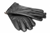 Black leather gloves — Stock Photo