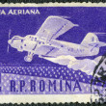 ROMANIA - 1960: shows Amphibian ambulance plane, series 50th anniv. of the first Romanian airplane flight by Aurel Vlaicu — Stock Photo #79215018