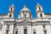 Piazza navona roma agone bazilikası — Stok fotoğraf