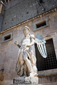 Statue of an angel inside Castle Sant'Angelo — Stock Photo
