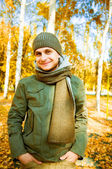 Young man  on a street forest. — Stock Photo