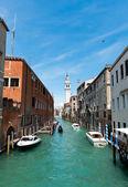 San Giorgio dei Greci water canal — Foto de Stock