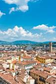 A view on the tile roofs of Florence — Stock Photo