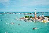 Vista de isla de san giorgio, venecia — Foto de Stock