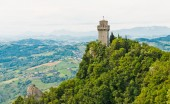 The ancient tower Montale — Stock Photo
