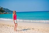 Woman on beach — Stock Photo