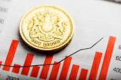 Rate of pound sterling — Stock Photo