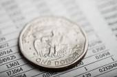 American coin and financial report — Stock Photo