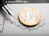 Rate of euro — Stock Photo