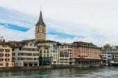 Limmat river in Zurich — Stockfoto