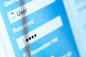 Username and password — Stock Photo