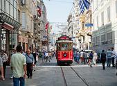 Retro tram in Istambul. — Photo