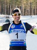 Martin Fourcade after finish — Stock Photo
