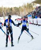 Simon Fourcade after finish — Stock Photo