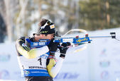 Martin Fourcade on firing line — Stock Photo