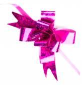 Pink  ribbon and bow — Stock Photo