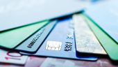欧元和信用卡 — 图库照片