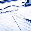 Medical history questionnaire — Stock Photo #58941927