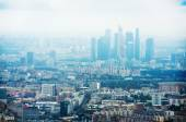 Moscow cityscape and clouds — Stock Photo