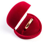 Wedding ring in a gift box — Stock Photo