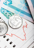 Ruble exchange rate — Stock Photo