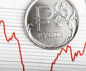 Ruble exchange rate — Stock Photo