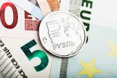 Russian ruble coin — Stock Photo