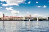 Neva river beautiful view — Stock Photo