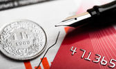 Pièce de monnaie de Franc Suisse — Photo