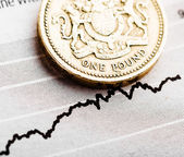 Rate of the pound sterling — Stock Photo