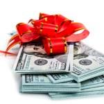 Dollar big stack present — Stock Photo #64056699