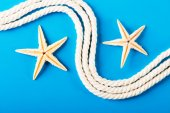 Rope and exotic starfish — Stock Photo