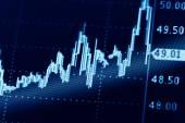 Business market graphs — Stock Photo