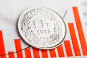 One Swiss Franc coin — Stock Photo