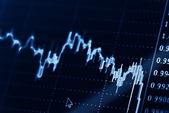 Business market graphs — Stock Photo