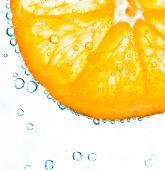 Orange with bubbles background — Stock Photo