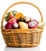 Composition of exotic fruits — Stock Photo