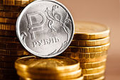 Russian rouble coin — Stock Photo