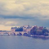 Island Isle de la Cite. Paris, France. — Stock Photo