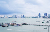 Pattaya beach and Pattaya city — Stock Photo