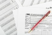Tax form 1040 for US — Stock Photo