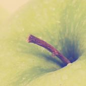 Green Apple , close up — Stock Photo