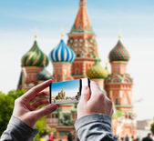 Tourist taking a picture — Stock Photo