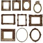 Antique wooden frames — Stock Photo #72043959