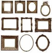 Antique wooden frames — Stock Photo