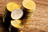 The Russian rouble coins — Stock Photo