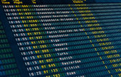 Flights information board — Stock Photo