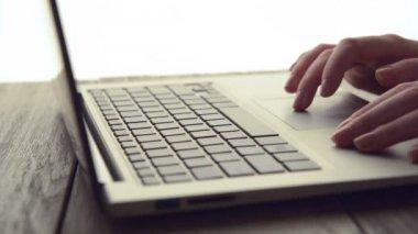 Woman Scrolls a Website — Stock Video