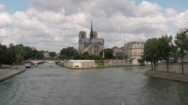 Notre Dame de Paris Cathedral — Stock Video
