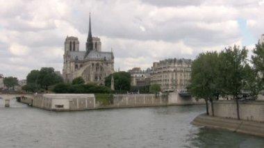 Notre Dame de Paris Cathedral. Paris — Stock Video